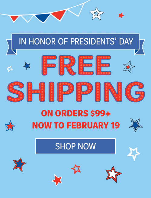 Free Shipping- President's Day