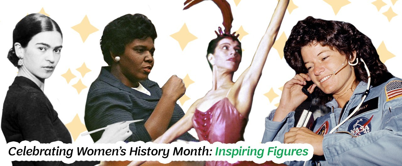 Frida Kahlo, Barbara Jordan, Maria Tallchief, and Sally Ride