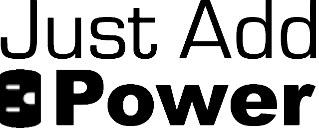 Just Add Power Logo 3 black