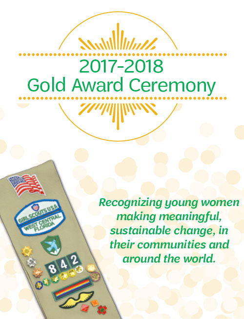 Girl Scout Gold Award Ceremony